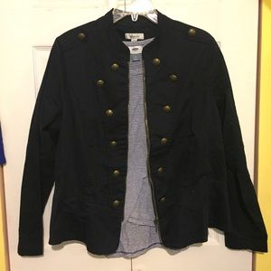 Dressbarn Navy Military-style Jacket